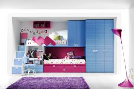 Cool Bunk Beds For Girls Green Blanket Laminate Wooden Flooring Teenage Room Ideas Smooth Pink Wall Painting Stair Feat Fabric Bedding Set