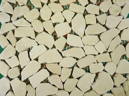 Picture Of 12x 12 Crema Marfil Random Tumbled Mosaic