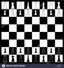 Layout Of A Chess Board In Black And White