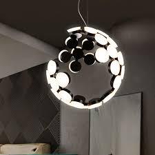 kreative designer mond led pendelleuchte wohnzimmer schlafzimmer pendelleuchte lada luminaria dekoration leuchte