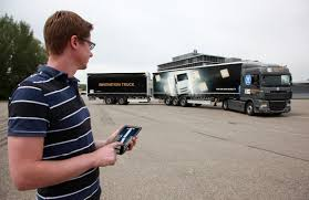 ZF WITH A TRUCK THAT CAN BE PARKED BY TABLET. AND A NEW TRANSMISSION ...