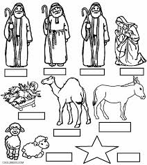 Free Printable Pages Wonderful Decoration Manger Scene Coloring Page Nativity For Kids Cool2bKids