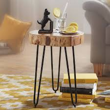 massivholz akazie beistelltisch wohnzimmertisch massiv anstelltisch holztisch echtholz baumkante b h t ca 35 45 35cm