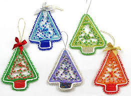 WOW Imports Beaded Christmas Tree Ornaments