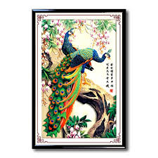 DIY 5D Diamond Embroidery Paintings Rhinestone Pasted 3D Stitch Tools Kit Animal Peacock The Sitting Room Decor 4260cm In Painting Cross