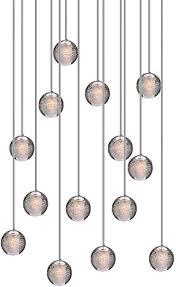 hws led pendelleuchte glas kristall hängeleuchte lüster dekoratives kronleuchter modern pendelle für villa treppe wohzimmer esszimmer schlafzimmer