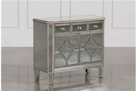 Hayworth Mirrored Chest Silver by Hayworth Mirrored Vanity Desk W Bench Living Spaces