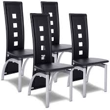 100 Side Dining Chairs Product Costway Costway Set Of 4 Modern High Back