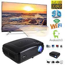 irulu p6 projector 5 8 android 6 0 led l 1080p big screen home