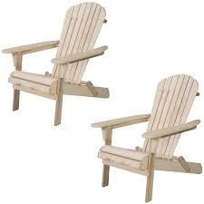 WALCUT Foldable Adirondack Wood Chair Garden Furniture Patio Lawn Deck  Outdoor Folding Chair (Set Of 2)