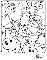 Club Penguin New Coloring Page
