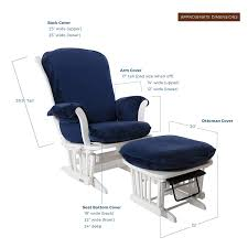 Luxe Basics Cover Me Glider Chair Cover (Chair NOT Included), Navy Blue