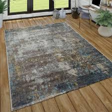 kurzflor teppich wohnzimmer ölgemälde used look