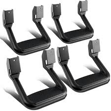 100 Side Step For Trucks 4 Pcs Of Aluminum Assist For Pickups Black