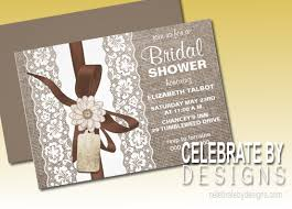 Bridal Shower Rustic Country Chic Invitation
