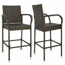 2PCS Rattan Wicker Bar Stool Furniture Chair Outdoor Backyard Patio Home  Garden Outdoor Fniture Fabric For Sling Chairs Phifer Cheap Modern Metal Steel Iron Textilener Teslin Stackable Stacking Arm Terrace Bistro Patio Garden Chair Buy Amazoncom Mzx Wicker Tear Drop Haing Gallery Capeleisure1 Lakeview Bocage 7 Piece Cast Alinum Ding Set Bali Rattan Bag On Carousell New Gray Frosted Glass Interesting Target With Amusing Eastern Ottomans Footrest Ftstools Sale Mkinac 40