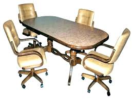 Dining Table And Chairs With Casters Dining Room Chairs Caster