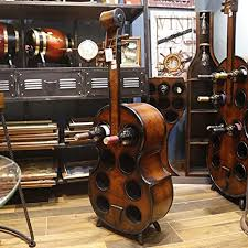 mqq cello weinregal aus holz vintage style gitarre cello