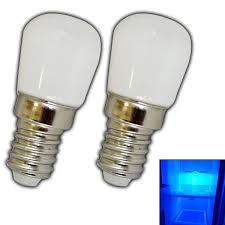 2x e14 led bulb 1 5 watt blue blue light for refrigerator ls