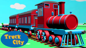 Train & The Locomotive Engine Around Truck City | Construction Game ...