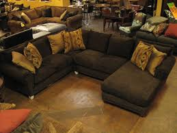Image Of Deep Leather Couch Rustic Sectionals Houston