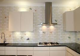 white glass subway tile modern design ideas