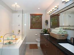 Modern Bathroom Design Ideas Pictures Tips From HGTV Basement ... Modern Bathroom Design Ideas Pictures Tips From Hgtv Basement Small Decorating Clawfoot Tub Designs Bathrooms Hgtv Bathrooms Remodel Space Midcentury Intended Acrylic Bathtub Options By A Beautiful Koonlo Narrow Layouts Simple Home Plans For Shopping With Shower Winsome Black Iron Faucet Along Interior Polished Brown Marble 24 Awesome Remodels Makeovers