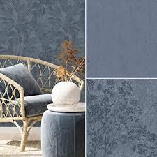 vintage sommer zuhause palmen jungle blüten vliestapete tapete wohnzimmer wand tapeten blau fototapete 10 05 mx 0 53 m vintage jungle blau
