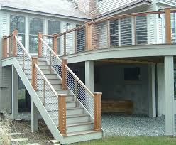 Stairs. Extraordinary Outdoor Stair Railing Ideas: Outstanding ... Outdoor Wrought Iron Stair Railings Fine The Cheapest Exterior Handrail Moneysaving Ideas Youtube Decorations Modern Indoor Railing Kits Systems For Your Steel Cable Railing Is A Good Traditional Modern Mix Glass Railings Exterior Wooden Cap Glass 100_4199jpg 23041728 Pinterest Iron Stairs Amusing Wrought Handrails Fascangwughtiron Outside Metal Staircase Outdoor Home Insight How To Install Traditional Builddirect Porch Hgtv