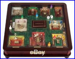 Clue Luxury Edition Board Game Table Top Wood Gold Glass Play Surface 3D Rooms
