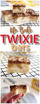 easy no bake dessert recipes no bake twixie cookie bars caramel chocolate mini nilla wafer