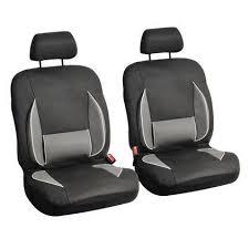 housse si e voiture lot de 2 housses siège auto avant gris et noir achat pas cher