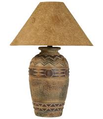 ANH6011wd 123 ANH6023HSL ANH6071WD123 Southwest Style Acoma Lamp Dark