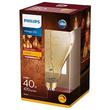 philips e27 led le 6 5w gold dimmbar