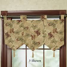 Grape Decor Kitchen Curtains by Pinot Grigio Banner Valance Touch Of Class Draperies