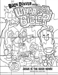 Kids Coloring Page Puzzle From Whats In The Bible Featuring Cover Of Volume 10