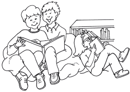 Student Reading Clipart Black And White clipartsgram