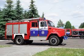 100 Firefighter Trucks Borisov Belarus June 10 2016 Are Prepared