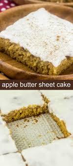 Apple Butter Sheet Cake An Easy Delicious Apple Dessert for Fall}