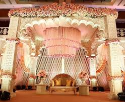 The Grand Chandelier And Pillars Add So Much Character To Stage Is A Great Theme For Your Wedding Reception