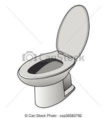 White toilet bowl Vector illustration of toilet bowl eps vectors