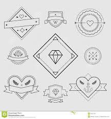 Logo Design Elements Vintage Retro Style Arrows