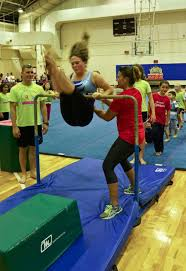 Dominique Moceanu Floor Routine by Former Olympians Hold Clinics For Young Gymnasts At Bases Across