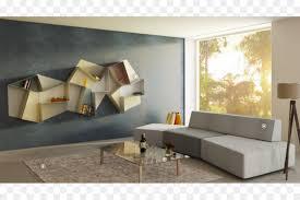 schwimmende regal bücherregal wohnzimmer wand sofa