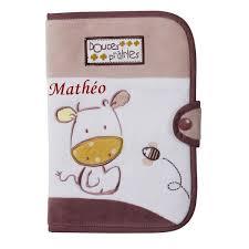 protège carnet de santé personnalisé mango