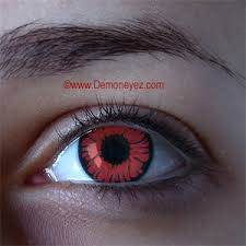 Cheap Prescription Halloween Contact Lenses by Phoenix Red Halloween Contact Lenses Mythical Eye Store