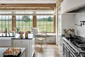 Large Windows Overlook The Pasture In This Marthas Vineyard Kitchen By Architect Mark Hutker Which