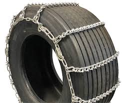 Titan Truck Tire Chains V-Bar CAM Type On Road Ice/Snow 5.5mm 265/65 ...