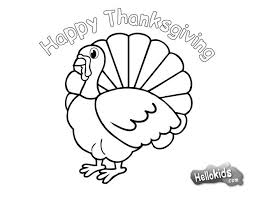 Spectacular Inspiration Thanksgiving Coloring Page Turkey For