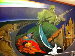 the freaky murals at denver international airport boing boing